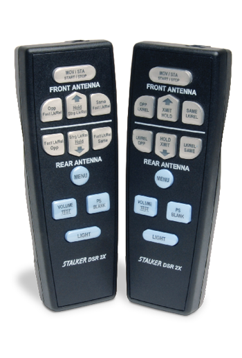 Showing the Stalker 2X Radar's 2 remote controls.