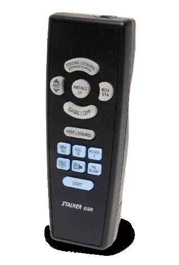 Showing the Stalker DSR Radar's ergonomic remote control,