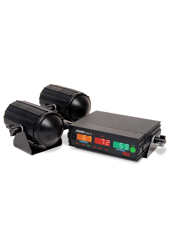 Showing the Stalker Dual SL Radar with its LED display and waterproof antennas.