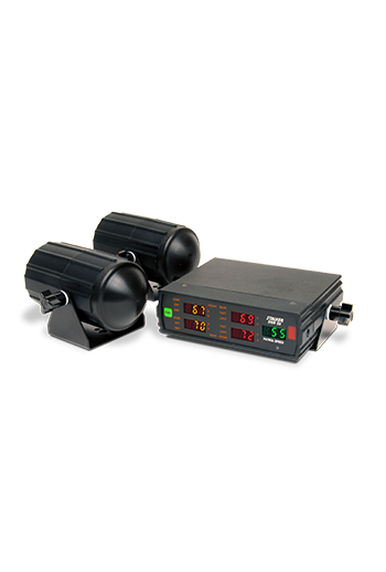 Showing the Stalker 2X Radar with its LED display and waterproof antennas.